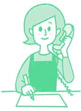 LINEモバイルQandA-電話をするママ