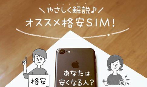 あなたは安くなる人?やさしく解説、オススメ格安SIM