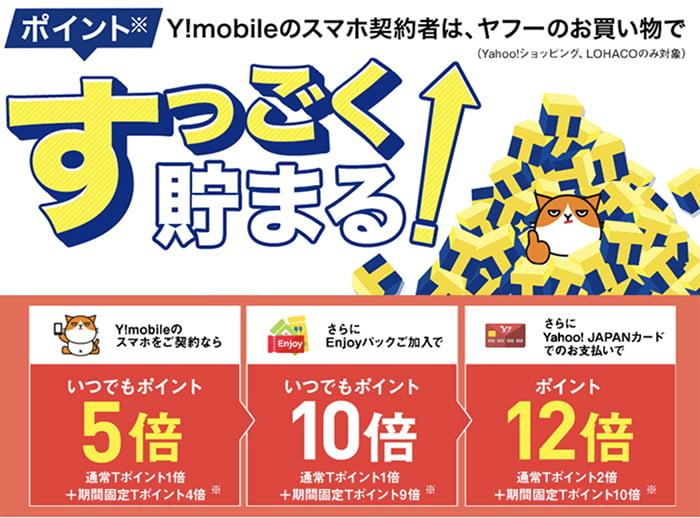 Y!mobileはTポイントがすっごく貯まる!